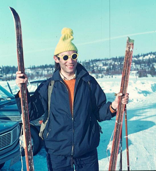 Tim Bliss with broken ski