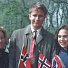 Kari and Ola Sveen & Judy<br /> May 17 1970, national holiday