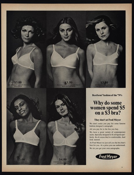 1970 Sexy Women In Bestform Bras Brassiere Fred Meyer Vintage Ad