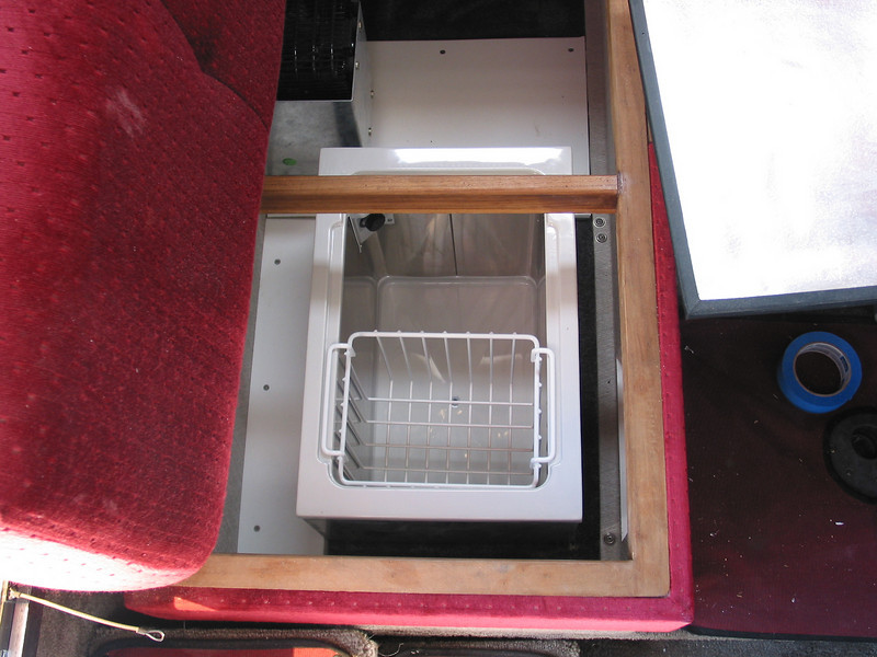 Installation of freezer under dinette seat