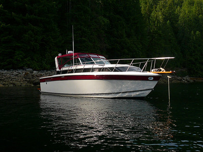 Anchored in Pendrel Sound, East Redonda Island- Desolation Sound