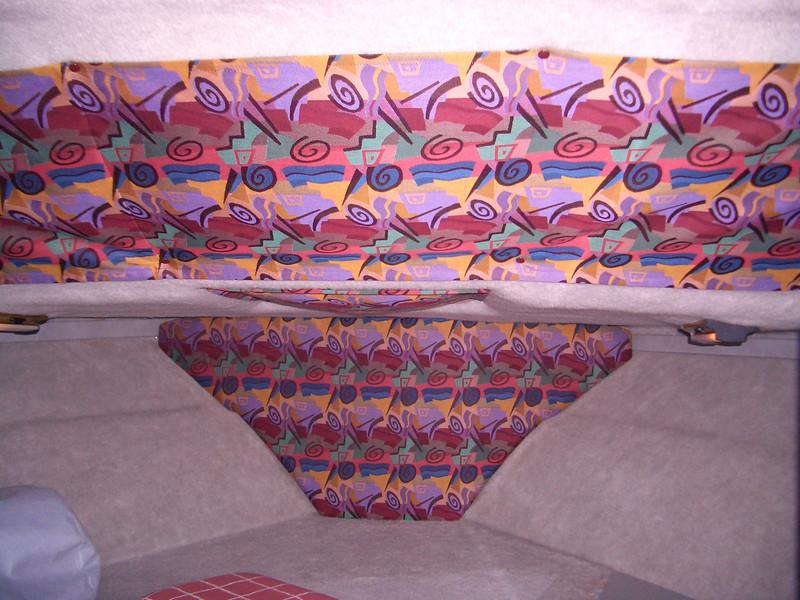 V-Berth with new drapes