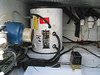 Installation of new 17 gallon hot water tank in lazerette