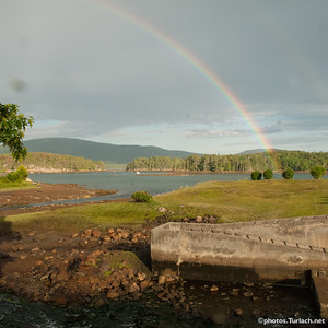 Rainbow over Somes Harbor.