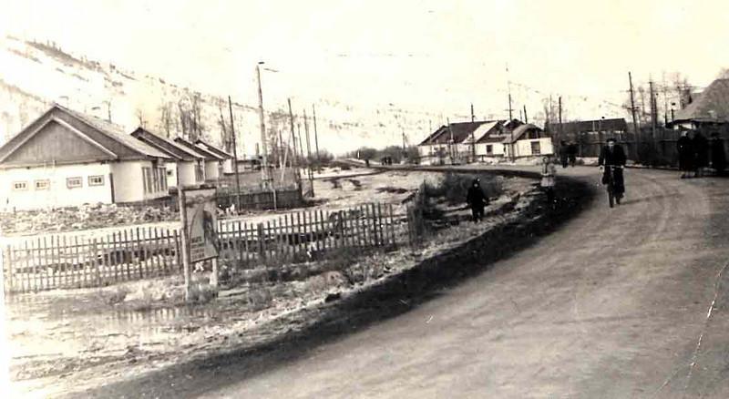 Центральная улица пос.Сенокосный.1953 год.