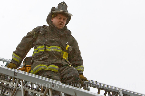 Squad 1 fireman Mike Chesak
