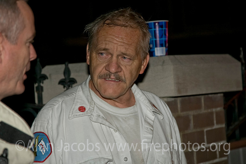 Engine 83 Captain Pat Stefan after coming out.