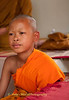 Novice Monk At Relative's Funeral