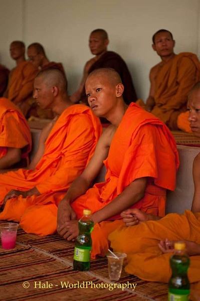 A Young Novice Monk, Samanen, At Relative's Funeral