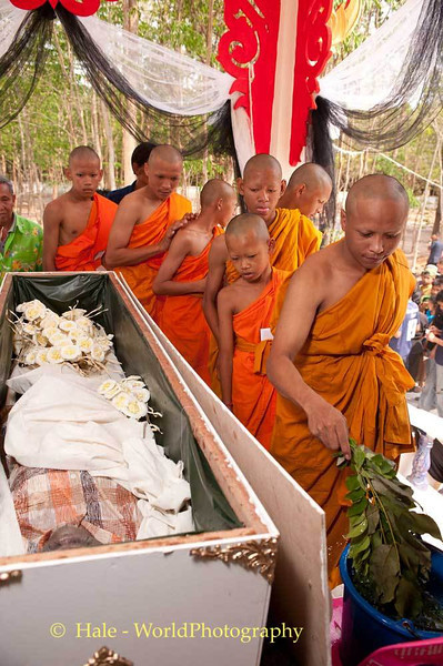 Novice Monks Participate In Ritual Cleaning of the Corpse
