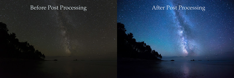 Before & After Post Processing / Editing