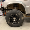 "Altered Ego 4.5"" lift kit front tire clearance on a 2000 Suzuki Grand Vitara with 245/75/16r tires"