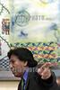 Peru :  Alejandro Toledo presdiente del pais en entrevista el 22 de Noviembre de 2001 . / Peru: President Alejandro Toledo. / Peru: Der peruanischen Präsident Alejandro Toledo zeigt mit seiner Hand in eine Richtung. Im Hintergrund ein Gemälde in seinen Arbeitsräumen.<br /> <br /> © Niceforo Ruiz/LATINPHOTO.org