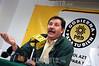 Mexico : Gerardo Fernandez del PRD ,  durante la conferencia de prensa, donde se hablo de la mala distribucion de las despensas en los estados afectados por los huracanes . Mexico D.F. 10 de Noviembre del 05. © Guillermo Perea/LATINPHOTO.org