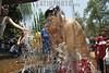 Mexico : Visitantes religiosos al santuario de chalma se refrescan en el rio para mitigar las altas temperaturas que imperan en el Valle de Toluca . / Mexico: holy water. / Mexiko: Ein Junge badet sich in einer heiligen Quelle. Wasser. © Mario Vazquez de la Torre/MVT/LATINPHOTO.org