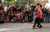 Argentina - Buenos Aires (07-2002) : En el barrio porteno de San Telmo una pareja baila tango  / Argentina - Buenos Aires: In the traditional district of San Telmo, a couple dances tango / Argentinen - Buenos Aires: Tango.  San Telmo. <br /> © Alberto Raggio/Betha/LATINPHOTO.org
