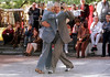 Argentina - Buenos Aires (07-2002) : En el barrio porteno de San Telmo una pareja de abuelos baila tango .  El tango se bailaba originalmente entre hombres / Argentina - Buenos Aires: In the traditional district of San Telmo, a couple of elder men dance tango. Originally, Tango was danced between men/ Argentinen - Buenos Aires: Tango. San Telmo.  <br /> © Alberto Raggio/Betha/LATINPHOTO.org