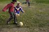Uruguay - Montevideo : Ninos en Asentamiento El Monarca, ubicado en la zona este de la ciudad .  futbol / Uruguay: children. poverty / Uruguay: Kinder spielen Fussball. Armut.<br /> © Sandro Pereyra/LATINPHOTO.org