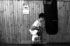 Chile  :  BOXEADORES  / Chile : boxing / Chile : Boxen.  (B/W)<br /> © Claudio Santana/LATINPHOTO.org<br /> ()