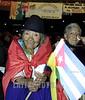 Ecuador - Quito (30.11.2002) Acto de Solidaridad con Cuba en el Teatro Nacional. Transito Amaguano de 94 anos de edad fue al acto a bridar su solidaridad con cuba a su lado (D) Nela Martinez primera mujer indigena comunista en ecuador. / Ecuador :  cuban supporters in Quito. / Ecuador: Kubanische indigene Anhänger der kommunistischen Parteii n Quito: Transito Amaguano und Nela Martinez.<br /> ©  Pablo Pildain/AIN/LATINPHOTO.org