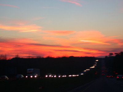 just another (out of focus) cool sunset