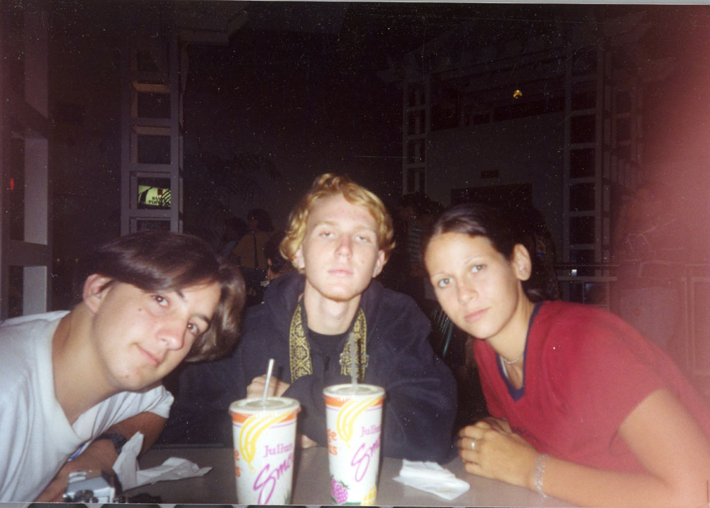 Dan, Bryan, and  Rose at the Plaza food court (I guess Andy took this pic)