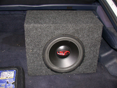 "R-F 10"" 150W in a cheap sealed box, powered by a R-F punch 100"