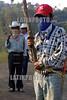 Mexico : Habitantes de este poblado de la sierra poblana tienen  el pueblo bloqueado en demanda de servicios y la liberacion de sus companeros detenidos pertenicientes a la union cacional anahuac (una) . Y de no haber solucion se declararan municipio autonoma en proximos dias. / Mexico : roadblock. barrage. protest. / Mexiko: Strassenblockade. Vermummte Demonstranten.<br /> © Juan Carlos Rojas/LATINPHOTO.org