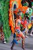 Brasil : Un miembros de la escuela de samba unidos da tijuca desfila en el Sambodromo durante la segunda noche de los desfiles de primera division . /Brazil: A member of the Unidos da Tijuca Samba School performs in the Sambadrome during the second night of the first division parades in Rio de Janeiro.<br /> © Douglas Engle/LATINPHOTO.org