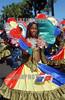 Republica Dominicana  : cientos de miles de personas desfilaron por el malecon, celebrando en carnaval dominicano . La gente  preparo sus mejores disfraces para esta ocasion. / Dominican Republic : hundreds of thousands of people marched past by malecon, celebrating in carnival dominicano.The  people  prepare their better disguises for this occasion. / Dominikanisches Republik : Karneval. Umzug. Farben. Flagge. Fahne. Junge Frau.<br /> © Orlando Barria/LATINPHOTO.org<br /> ()