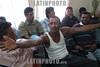 Mexico : 40 indocumentados centroamericanos fueron detenidos en la inmediaciones del ferrosur tras una denuncia de la empresa y fueron trasladados a las oficinas de migracion a cargo de guadalupe hinojosa . / Mexico: undocumented people. / Mexiko: Grenzgänger ohne Dokumente werden nach Mexiko zurückgeführt. Papierlose.<br /> <br /> © Juan Carlos Rojas/LATINPHOTO.org