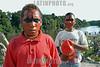 Brasil-Amazonia:  Miembros de la tribu Deni en el Rio Amazonas , Agosto 2003 .   Chicoscon la cara pintada. .  /Brazil-Amazonia: Indigenous from the Deni tribe at Amazonas River, August 2003. Beach. Sand.Children with their faces painted. / Brasilien :   Eingeboren am Amazonas Fluss. (DIGITAL IMAGE) <br /> © Angelo Lucas/LATINPHOTO.org