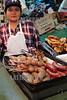 Paraguay : venta de carnes en puesto en el Mercado N∫4 . carne. carnicero. mujer. / Paraguay : Market Number 4. shop. sell. economy. vendor. butcher. woman. meat. / Paraguay : Metzger.  Frau .Fleisch.<br /> © Martin Crespo/LATINPHOTO.org