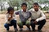 Paraguay : Ninos indigenas . Comunidad NEPOXEN del chaco paraguayo. / Paraguay : indigenous. children. / Paraguay : Indigene ethnische Bevölkerung im Chaco. Kinder. <br /> ©  Amadeo Velazquez/LATINPHOTO.org