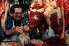 Paraguay : venta de carnes en puesto en el Mercado N∫4 . carne. carnicero. hombre. / Paraguay : Market Number 4. shop. sell. economy. vendor. butcher. meat. woman. / Paraguay : Metzger. Frau .Fleisch.<br /> © Martin Crespo/LATINPHOTO.org