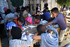 """Mexico (08/08/2003): Simpatizantes Zapatistas se reunen en la comunidad de Oventic , Chiapas para instalar las Juntas de Buen Gobierno para gobernar los municipios autonomos en Chiapas . / Mexico (08/08/2003): Zapatista supporters gathered in a three-day meeting to install the new Good Government Committees, also known as The Caracoles or Snails, to rule the Zapatista independent municipalities. escuela. ninos. / Mexiko : Die Zapatisten sind zurück. Vom 8. August an, dem 124. Geburtstag des mexikanischen Revolutionshelden Emiliano Zapata, würden die 30 """"autonomen zapatistischen indigenen Munizipien"""", die in Chiapas seit fast zehn Jahren bestehen, von fünf zentralen Organen gesteuert, von Juntas de Buen Gobierno, """"guten Regierungen"""", in Abgrenzung zur mexikanischen Regierung, dem mal gobierno von Präsident Vicente Fox, in der Hauptstadt. Diese so genannten Caracoles, """"Schneckenmuscheln"""", sollen der effektiveren Verteilung von Hilfsmitteln und selbst erwirtschafteten Geldern dienen. Kinder in einer Gemeindeschule der Zapatisten. Unterricht.<br /> ©  Heriberto Rodriguez/LATINPHOTO.org"""