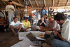 Brasil-Amazonia: Miembros de la tribu Deni en el Rio Amazonas , Agosto 2003 .  Familias. Hombres. Reunion. /Brazil-Amazonia: Indigenous from the Deni tribe at Amazonas River, August 2003. Meeting. Men.  / Brasilien :   Eingeboren am Amazonas Fluss. (DIGITAL IMAGE) <br /> © Angelo Lucas/LATINPHOTO.org