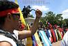 Venezuela - Colombia (24/07/2003): Actos culturales y politicos a lo largo de la ruta de la Reedicion de La Campana Admirable , desde Cartagena de Indias en Colombia hasta Caracas, Venezuela . / Venezuela -Colombia: Political and cultural acts along the route of the Re edition of The Admirable Campaign, from Cartagena of Indias in Colombia to Caracas, Venezuela.  / Venezuela : Solidaritätskampagne für die Indios in Venezuela und Kolumbien. Indigene Bevölkerung.<br /> ©  Enrique Hernandez/LATINPHOTO.org