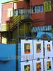 Argentina - Buenos Aires (08/10/2003) : la boca . paredes de colores. caminito. arte . /  Argentina : la boca. coloured walls. bar. / Argentinien : Tourismusviertel La Boca im Hafenviertel von Buenos Aires.<br /> ©  Maria Menegazzo/LATINPHOTO.org