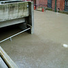 It finally made it over our sand bags and filled our lower parking deck