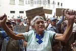 Guatemala : Protesta de ancianos de la tercera edad, frente a casa de gobierno, los jubilados exigen un aumento de pension. / Guatemala: pensioners protest. / Guatemala: Rentner protestieren ...