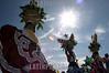 """Mexico : Da inicio la maxima fiesta del estado de Oaxaca la Guelaguetza, vocablo zapoteca que significa """"ofrenda"""" donde todas las regiones del estado se reunen en el cerro del fortin para deleitar ala gente local e internacional de los bailables unicos de cada una de sus comunidades. En la imagen las Chinas Oaxauqenas originarias de los Valles Centrales. / Mexico: indigenous dancers during a festival in Guelaguetza. / Mexiko: Indigene Tänzer während eines Festivals in Guelaguetza. © Jorge Luis Plata/LATINPHOTO.org"""