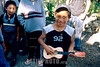 Mexico : Nino peregrino con guitarra en el santuario de Juquila, 7 de agosto de 2004 en Oaxaca / Mexico: Pilgrim boy with toy guitar at Juquila's sanctuary, August 7, 2004 Oaxaca. / Mexiko: Ein Junge spielt auf seiner Gitarre. Religiöses Fest. Kinder. Religion. © Pablo Aguinaco/LATINPHOTO.org