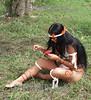 Cuba : Las represetaciones aborigenes de las culturas indigenas, son utilizadas como atractivo turistico en la isla. / Cuba: natives. indians. indigenous. / Kuba: Indigene Ureinwohnerin. © Ismael Francisco Gonzalez/LATINPHOTO.org