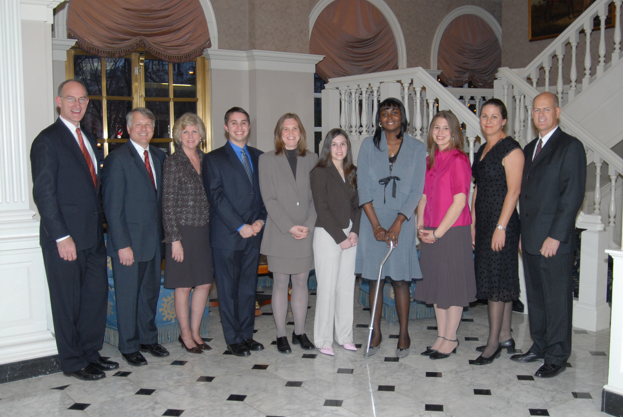 2005 NATIONAL ACHIEVEMENT AWARD WINNERS HONORED BY RECORDING FOR THE BLIND & DYSLEXIC®<br /> Students recognized in Washington, DC, at national nonprofit's annual awards celebration <br /> <br /> February 10, 2006 (Washington, DC) – Cited for their extraordinary scholarship, leadership, enterprise and service to others, six students selected for the 2005 National Achievement Awards (NAA) by national nonprofit Recording for the Blind & Dyslexic (RFB&D®) were honored at several events in the nation's capitol February 8 – 10. RFB&D is the nation's educational library of recorded textbooks for students with visual impairment, dyslexia or other physical disabilities that make reading standard textbooks difficult or impossible.<br /> <br /> This year's winners include a pianist who has performed around the world, a college graduate who received her diploma at 39 years of age and a young woman who didn't allow a visual impairment or multiple sclerosis stop her from pursuing a career with the federal government. In addition to the celebrations scheduled for this week, some of the winners will return for a special visit with first lady Laura Bush at the White House later this month.<br /> <br /> Each year, RFB&D presents the Mary P. Oenslager Scholastic Achievement Awards (SAAs) for college seniors who are blind or visually impaired and the Marion Huber Learning Through Listening® (LTL®) awards for high school seniors with learning disabilities. The finalists for each award were chosen by two selection committees based on student academics, teacher referrals, volunteerism and community involvement weighed against individual opportunity and personal circumstance. <br /> <br /> The top three SAA winners, who will each receive $6,000, are Kathleen Ernst, Athens, GA; Scott MacIntyre, Scottsdale, AZ; and Jessica Smith, Dillon, SC. The top three winners of the LTL awards are Karen Jenkins, Galena, OH; Christine Lowry, Reston, VA; and Philip Wyks, Oradell, NJ. Each will also receiv