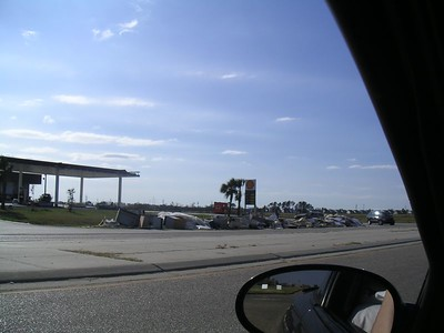 The beginning of the damage entering into Louisiana.