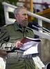 """Cuba - La Habana, Ciudad Deportiva .- 05 09 19 Preside el Comandante en Jefe Fidel Castro, acto de Graduacion Nacional de medicos egresados en el curso 2004-2005 en los Institutos y Facultades de Ciencias Medicas del pais y la constitucion del Contingente Internacional de Medicos Especializados en Situaciones de Desastres y Graves Epidemias """"Henry Reeve"""". Palabras del Comandante en Jefe Fidel Castro. / Cuba: celebration in the faculty of medicine. / Kuba: Feier.  © Ismael Francisco Gonzalez/AIN/LATINPHOTO.org"""
