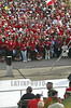 """CUBA, La Habana, Plaza de la Revolucion """"Jose Marti"""" .- 05 05 01 Acto Central por el Primero de Mayo, Dia Internacional de los Trabajadores. / Cuba: May Day manifestation in Havana. multitud. / Kuba: Eine Menschenmasse begeht auf dem Platz der Revolution den Tag der Arbeit.  © Marcelino Vazquez Hernandez/AIN/LATINPHOTO.org"""