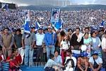 Bolivia : Acto de cierre de campana presidencial del MAS de Evo Morales gentes indigenas / presidencial close act for de MAS of Evo Morales / Bolivien: Indigene Anh�nger des Pr�sidentschaf ...
