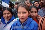 Bolivia : Acto de cierre de campana presidencial del MAS de Evo Morales mujeres indigenas / presidencial close act for de MAS of Evo Morales / Bolivien: Indigene Anh�nger des Pr�sidentscha ...